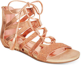 Kenneth Cole Reaction Women's Lost Look 2 Lace-Up Gladiator Sandals Women's Shoes $69 thestylecure.com