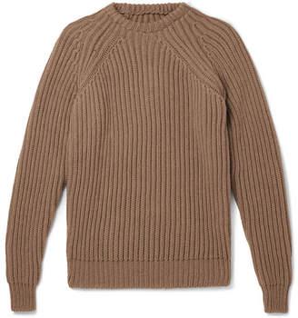 De Bonne Facture Ribbed Wool Sweater
