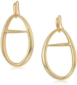 Halston H Sculptural Links Women's Large Open Hoop Drop Earrings