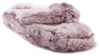 Chinese Laundry Tipped Plush Faux Fur Thong Slipper