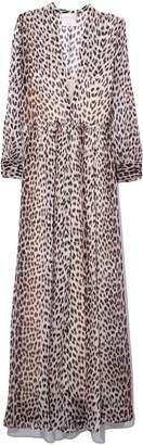 Forte Forte Savage Vanity Print Silk Dress in Polvere