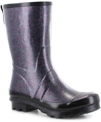 Western Chief Womens Razzle Dazzle Waterproof Flat Heel Pull-on Mid Rain Boots