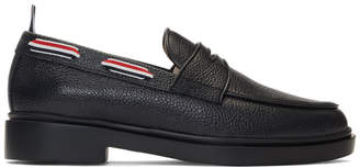 Thom Browne Black Tricolor Trim Loafers