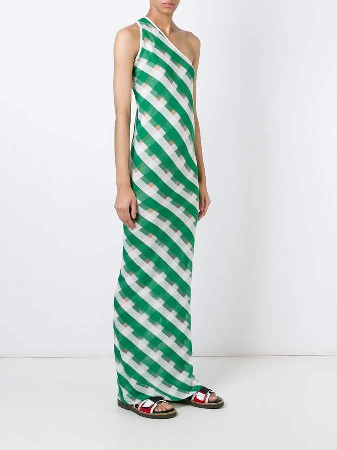 Stella McCartney transparent checks dress