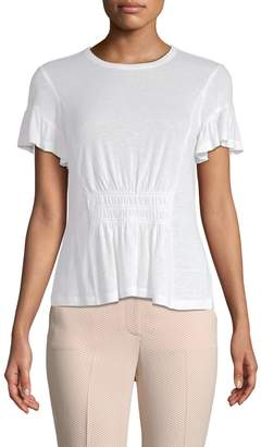 Rebecca Taylor Women's Ruched Jersey T-Shirt
