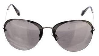 Miu Miu Mirrored Aviator Sunglasses