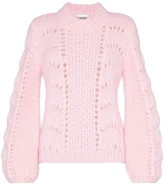 Ganni Julliard open-knit mohair and wool jumper