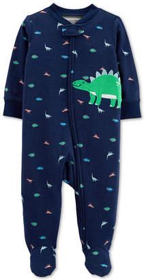 Carter's Carter Baby Boys 1-Pc. Dino Cotton Footed Pajamas