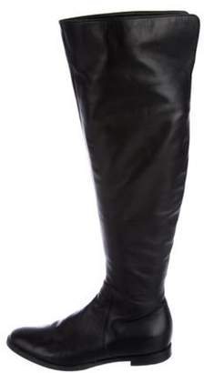 Sergio Rossi Leather Over-The-Knee Boots Black Leather Over-The-Knee Boots