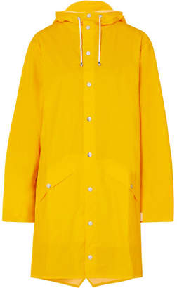 Rains Hooded Matte-pu Raincoat - Yellow
