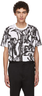 Givenchy White and Black Iris Pocket T-Shirt