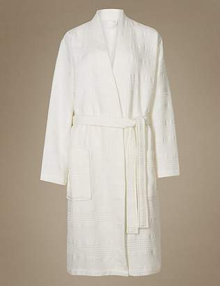 Marks and Spencer Pure Cotton Textured Waffle Dressing Gown