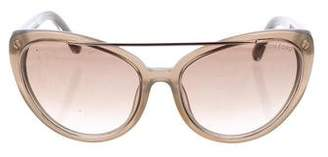Tom Ford Edita Dramatic Cat-Eye Sunglasses