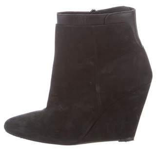 Vince Suede Ankle Wedge Boots