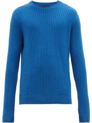 Allude Ribbed Cashmere Sweater - Mens - Blue