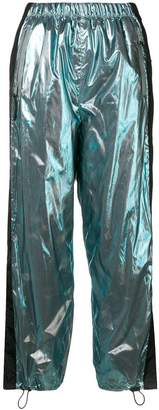 Prada side panel cropped trousers