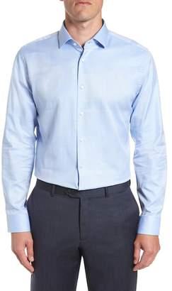 CALIBRATE Trim Fit Print Dress Shirt