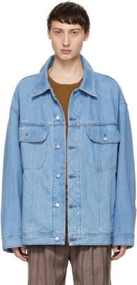 Acne Studios Blue Bla Konst Denim Oversized Jacket