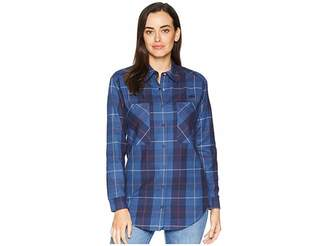 Lacoste Long Sleeve Shaded Tartan Woven Check Cotton Shirt