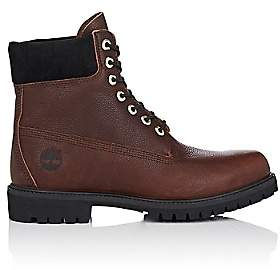 "Timberland Men's BNY Sole Series: ""6-Inch"" Grained Leather Boots-Brown"