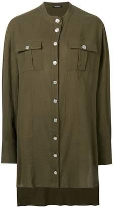 Balmain oversized longline shirt