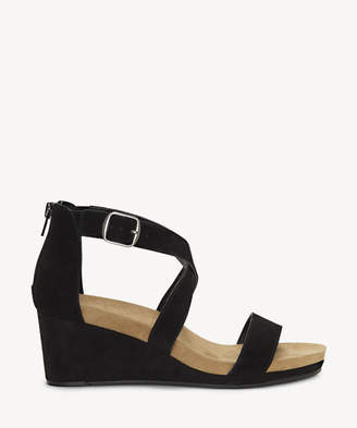 Lucky Brand Women's Kenadee Criss Cross Wedges Black Size 6 Suede From Sole Society