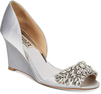 Badgley Mischka Hardy Evening Wedge Sandals Women Shoes