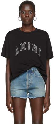 Amiri Black College Logo T-Shirt