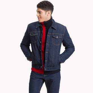 Tommy Hilfiger Check-Lined Denim Trucker Jacket