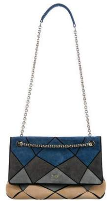 Roger Vivier Suede Prismick Shoulder Bag