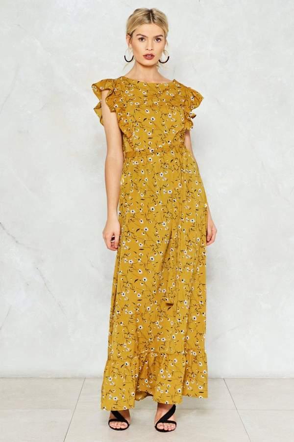 nastygal Higher Flower Maxi Dress