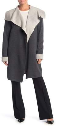 T Tahari Draped Front Cardigan (Petite)