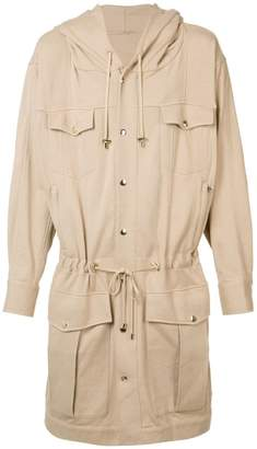 Balmain long drawstring jacket