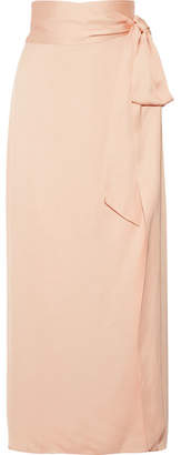 Elizabeth and James Almeria Satin Wrap Maxi Skirt - Peach