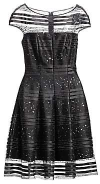 Talbot Runhof Women's Sequin Net Cocktail A-Line Dress