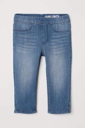 H&M Denim Capri Leggings - Blue