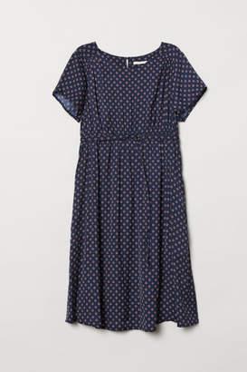 H&M MAMA Jacquard-weave Dress - Blue