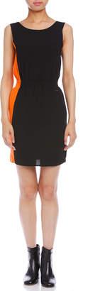 Armani Exchange バイカラーブロック ノースリーブドレス ブラック/オレンジ 0