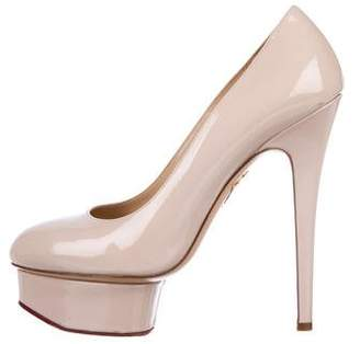 Charlotte Olympia Dolly Patent Leather Pumps