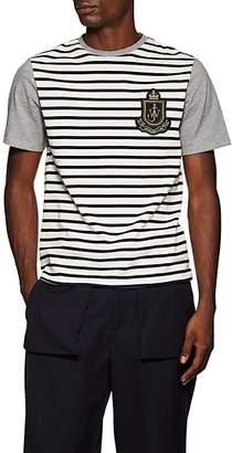 J.W.Anderson Men's Colorblocked-&-Striped Logo Cotton T-Shirt
