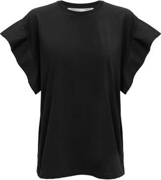 Victoria Beckham Victoria, Flute Sleeve Black T-Shirt