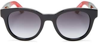 Gucci Round Color Block Sunglasses, 49mm