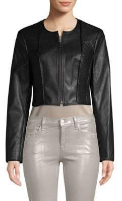 BCBGMAXAZRIA Classic Faux Leather Moto Jacket