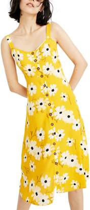 Madewell Ikat Floral Button Front Dress