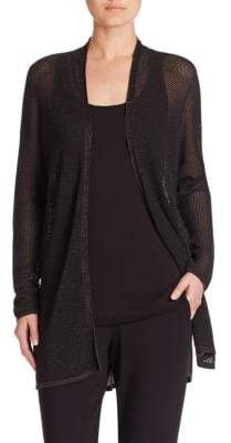 Eileen Fisher Merino Wool Open-Front Cardigan