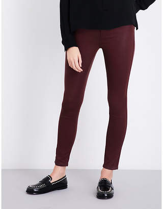 Paige Hoxton Ankle coated skinny mid-rise jeans