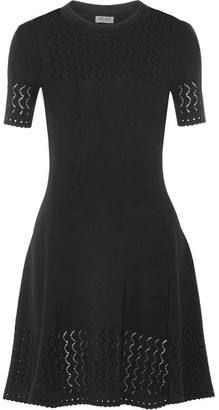 KENZO - Pointelle-knit Dress - Black $485 thestylecure.com