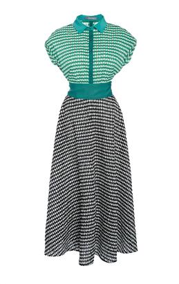 Lela Rose Full Skirt Shirt Dress $1,495 thestylecure.com