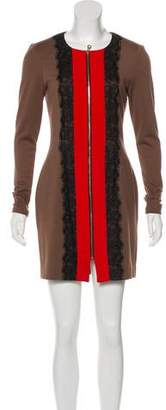 Jay Godfrey Long Sleeve Mini Dress