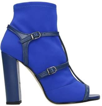 Marc Ellis Blue Open Toe Ankle Boots